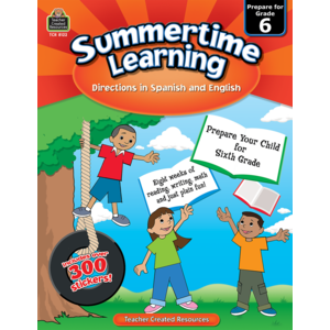 TCR8122 Summertime Learning Grade 6 - Spanish Directions Image