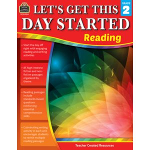 TCR8124 Let's Get This Day Started: Reading Grade 2 Image