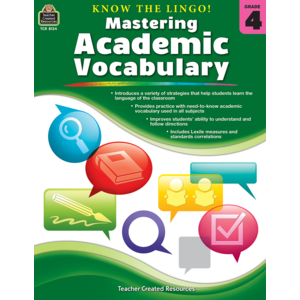 TCR8134 Know the Lingo! Mastering Academic Vocabulary Grade 4 Image