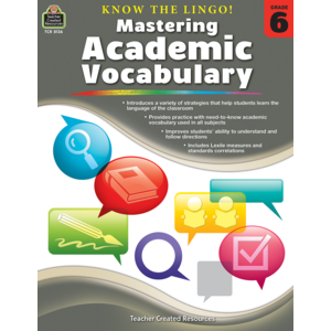 TCR8136 Know the Lingo! Mastering Academic Vocabulary Grade 6 Image