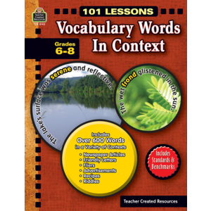 TCR8143 101 Lessons: Vocabulary Words in Context Grades 6-8 Image