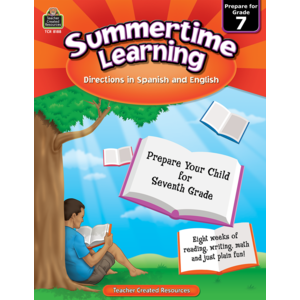 TCR8188 Summertime Learning Grade 7 - Spanish Directions Image