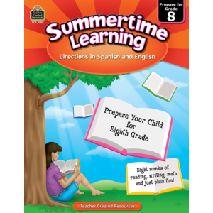 TCR8189 Summertime Learning Grade 8 - Spanish Directions Image