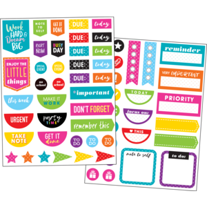 TCR8195 Colorful Planner Stickers Image