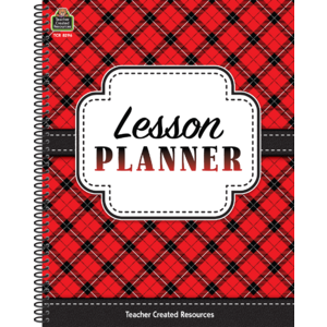 TCR8296 Plaid Lesson Planner Image