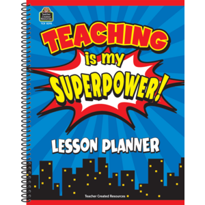 TCR8298 Teaching Is My Superpower Lesson Planner Image