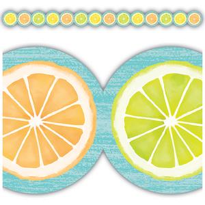 TCR8490 Lemon Zest Citrus Slices Die-Cut Border Trim Image