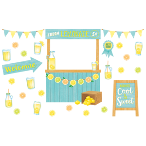 TCR8491 Lemon Zest Lemonade Stand Bulletin Board Image