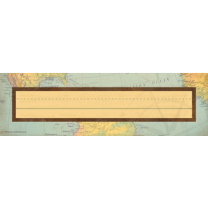 TCR8571 Travel the Map Flat Name Plates Image