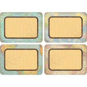 TCR8574 Travel the Map Name Tags/Labels - Multi-Pack Image