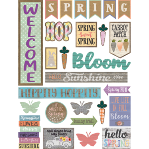 TCR8578 Home Sweet Classroom Spring Mini Bulletin Board Image
