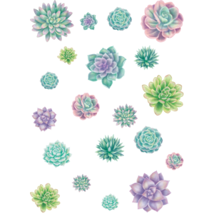 TCR8590 Rustic Bloom Succulent Accents - Assorted Sizes Image