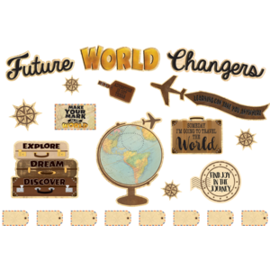 TCR8623 Travel the Map Future World Changers Bulletin Board Image