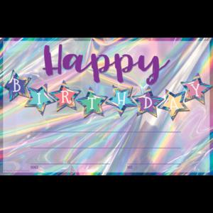 TCR8636 Iridescent Happy Birthday Awards Image