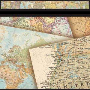 TCR8639 Travel the Map Straight Border Trim Image