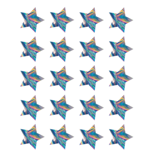 TCR8705 Iridescent Stars Stickers Image
