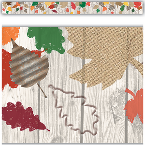 TCR8707 Home Sweet Classroom Happy Fall Straight Border Trim Image