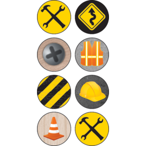 TCR8718 Under Construction Mini Stickers Image