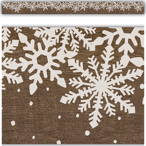 TCR8723 Home Sweet Classroom Winter Straight Border Trim Image