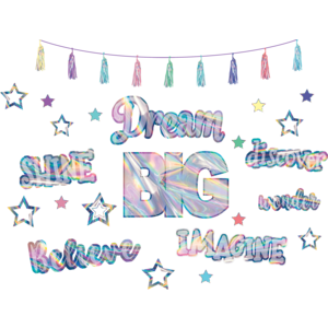 TCR8737 Iridescent Dream Big Bulletin Board Display Image