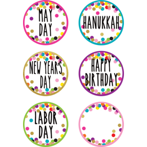 TCR8763 Confetti Holidays and Special Events Calendar Days Image