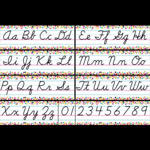 TCR8764 Confetti Cursive Writing Bulletin Board Display Set Image