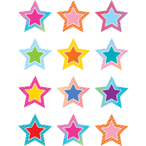 TCR8773 Colorful Vibes Stars Mini Accents Image