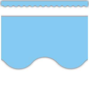 TCR8776 Light Blue Scalloped Border Trim Image