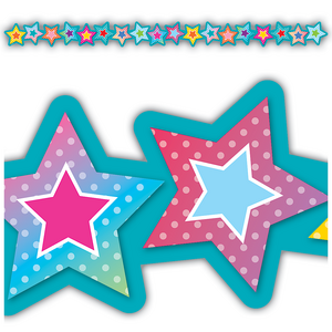 TCR8779 Colorful Vibes Stars Die-Cut Border Trim Image