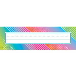 TCR8782 Colorful Vibes Flat Name Plates Image