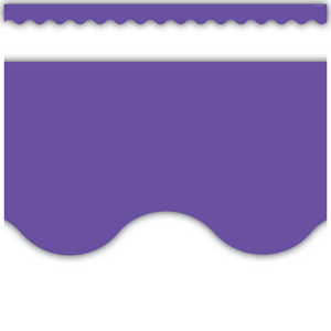 TCR8791 Ultra Purple Scalloped Border Trim Image