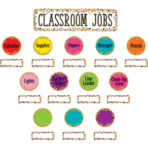 TCR8802 Confetti Classroom Jobs Mini Bulletin Board Image