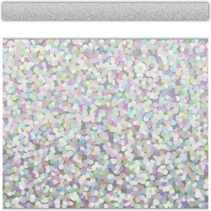 TCR8805 Silver Sparkle Straight Border Trim Image