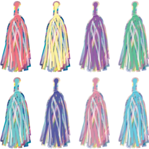 TCR8806 Iridescent Tassels Accents Image