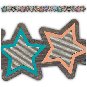 TCR8813 Home Sweet Classroom Stars Die-Cut Border Trim Image