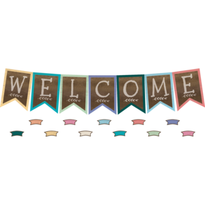 TCR8815 Home Sweet Classroom Pennants Welcome Bulletin Board Display Set Image