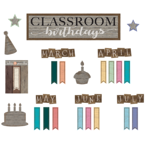 TCR8817 Home Sweet Classroom Birthdays Mini Bulletin Board Image