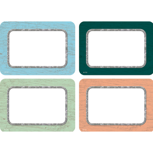 TCR8818 Painted Wood Name Tags/Labels - Multi-Pack Image
