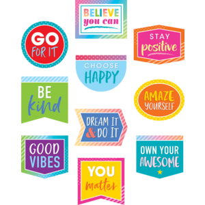 TCR8825 Colorful Vibes Positive Sayings Accents Image
