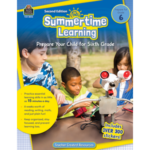 TCR8846 Summertime Learning Grade 6 Image