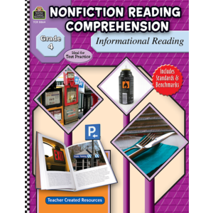 TCR8864 Nonfiction Reading Comprehension: Informational Reading, Grade 4 Image