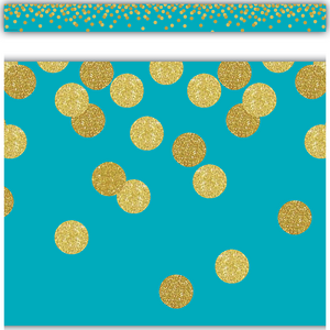 TCR8869 Teal Confetti Straight Border Trim Image