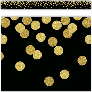 TCR8880 Black Confetti Straight Border Trim Image