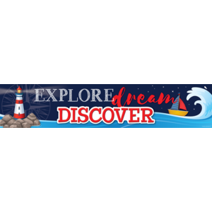 TCR8886 Nautical Explore, Dream, Discover Banner Image
