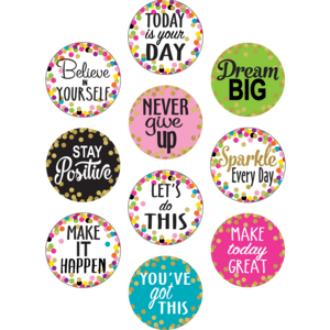 TCR8890 Confetti Positive Sayings Accents Image