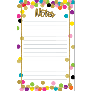 TCR8893 Confetti Notepad Image
