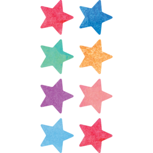 TCR8897 Watercolor Stars Mini Stickers Image