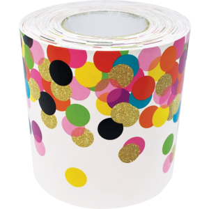 TCR8952 Confetti Straight Rolled Border Trim Image