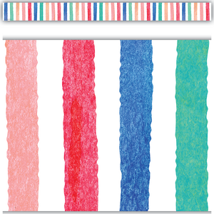 TCR8961 Watercolor Stripes Straight Border Trim Image