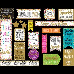TCR8962 Confetti Sparkle and Shine Mini Bulletin Board Image